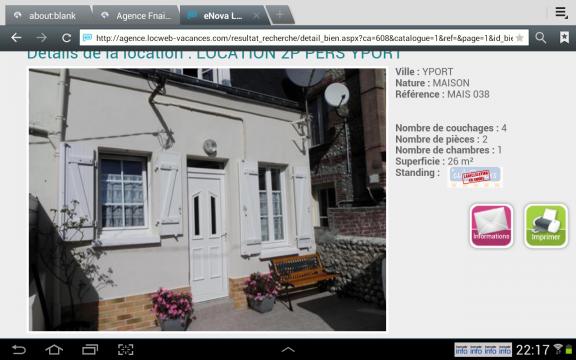 Maison à Yport pour  4 •   avec terrasse