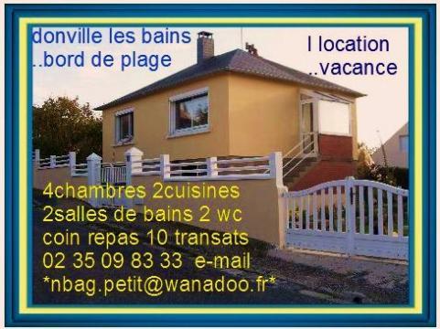Donville les bains à louer pour 8 personnes - location n°9207