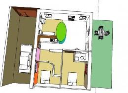 Gite à Semur en auxois pour  5 •   2 chambres