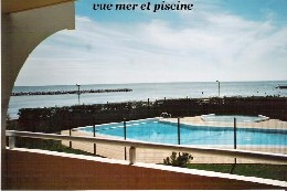 Studio in Palavas les flots for   4 •   view on sea