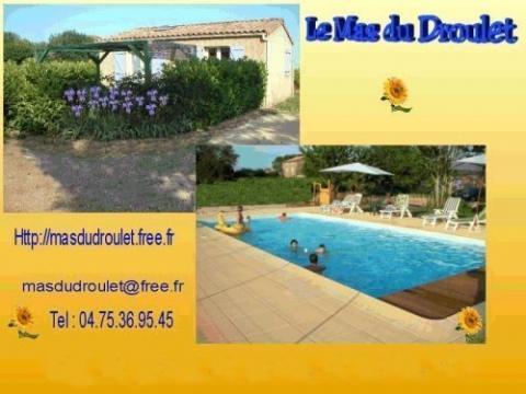 Gite à Laurac en vivarais à louer pour 6 personnes - location n°22232