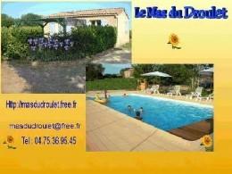Gite 6 personnes Laurac En Vivarais - location vacances  n°22232