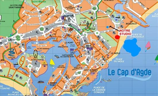 Studio in Cap d agde for rent for 4 people rental ad 26964