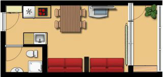 Appartement à La bresse hohneck pour  4 •   1 chambre