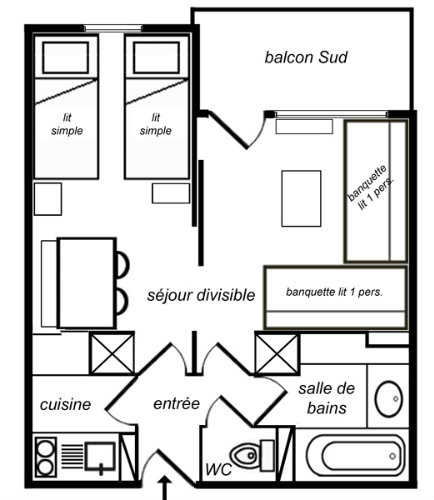 Studio in Méribel - Vacation, holiday rental ad # 34244 Picture #5