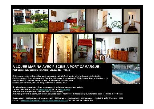 Appartement Port Camargue - 4 Personen - Ferienwohnung N°35659