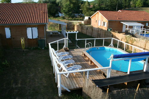 Chalet à Montignac pour  4 •   avec piscine privée