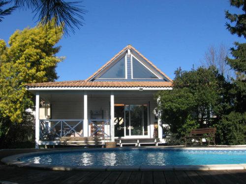 Chalet à La teste de buch pour  6 •   avec piscine privée   n°36921