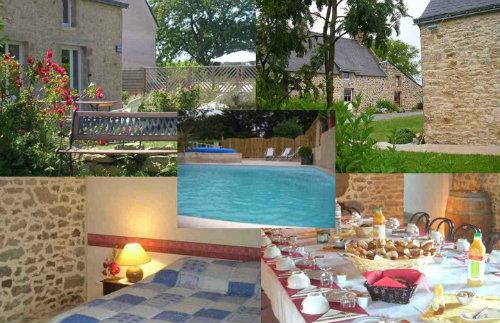 Gite à Marzan pour  45 •   avec piscine privée