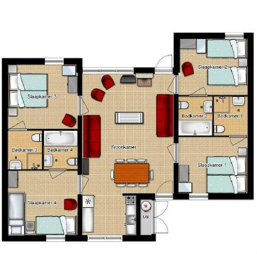 Huis in Lochem voor  10 •   met terras