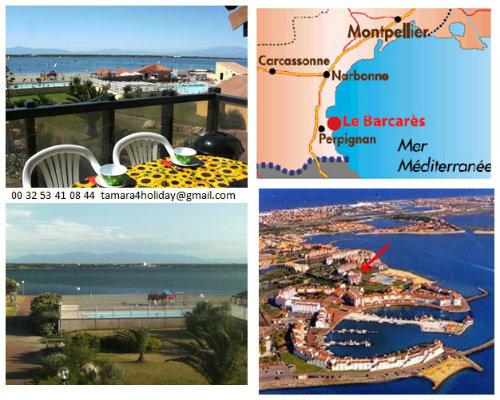 Gite in Le barcarès für  6 •   Aussicht auf See