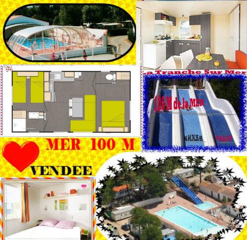 Chalet 6 personnes La Tranche Sur Mer - location vacances  n°41100