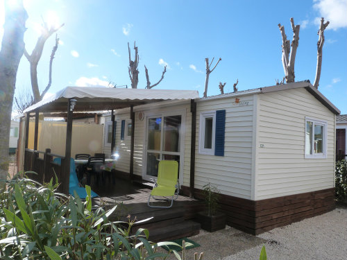 Mobile home in Valras plage - Vacation, holiday rental ad # 45525 Picture #0