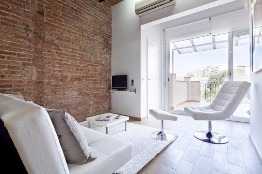 Apartamento en Barcelona para  8 •   con terraza