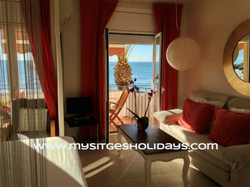 Sitges -    uitzicht op zee