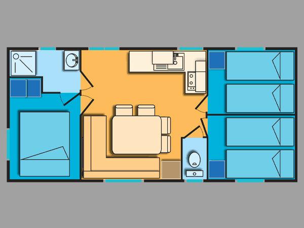 Mobil-home Le Grau Du Roi - 8 personnes - location vacances  n°50027
