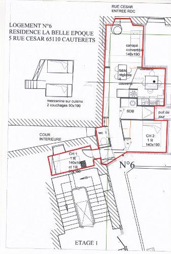 Appartement Cauterets - 4 Personen - Ferienwohnung N°50671