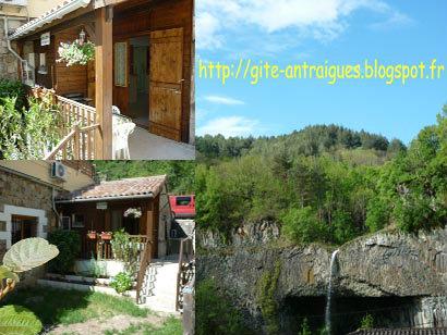 Gite à Antraigues pour  4 •   1 chambre