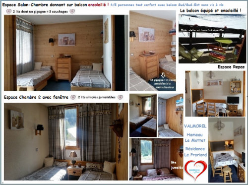 Flat in Valmorel for   5 •   animals accepted (dog, pet...)