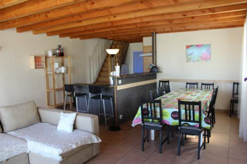 Casa en Mimizan plage para  9 •   con terraza
