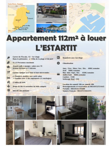 Appartement in L estartit für  8 •   mit Terrasse