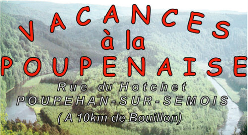 Gite in Bouillon poupehan for   8 •   animals accepted (dog, pet...)