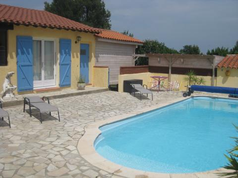Gite in Castelnou for   3 •   with shared pool   #62127