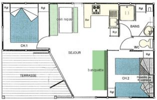 Bungalow 4 people Peumerit - holiday home  #65436