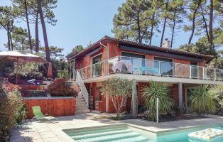 Maison à Lacanau pour  8 •   avec piscine privée