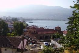 Ohrid -    vue sur lac