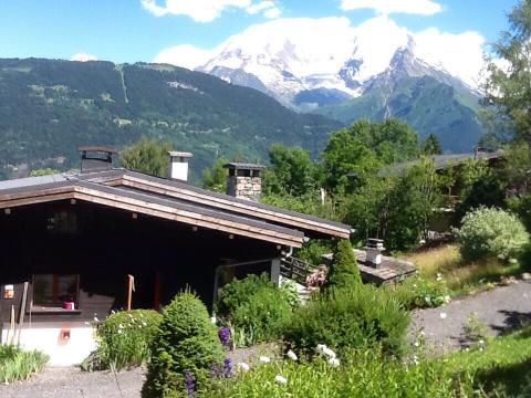 Chalet face MontBlanc,Spa