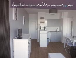 Appartement à Courseulles sur mer pour  4 •   vue sur mer   n°21796